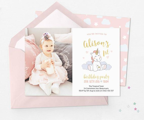 Create A Magical Party With These Printable Unicorn Invitations