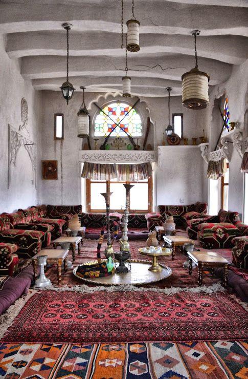 House Interior Old Sana A Yemen By Rod Waddington