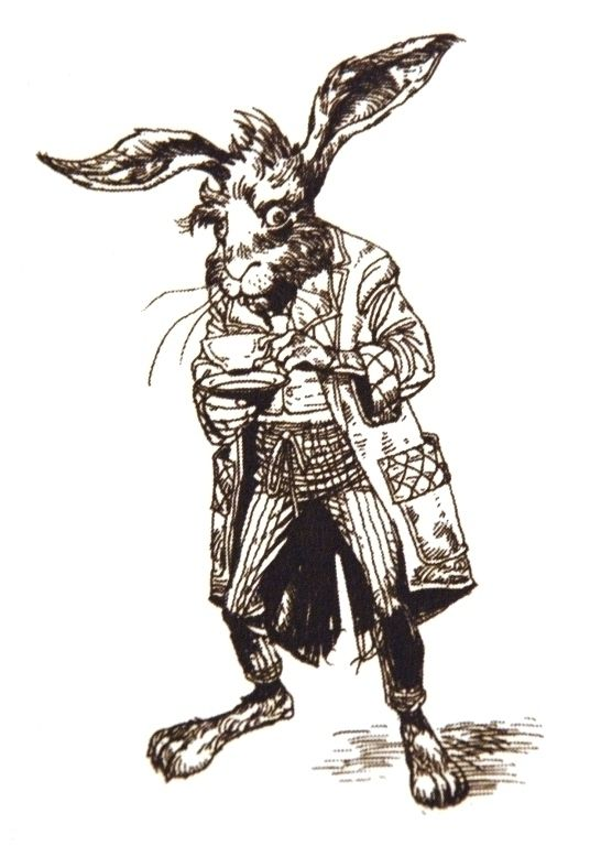 March Hare Line Drawing Tim Burton Drawings Alice In Wonderland