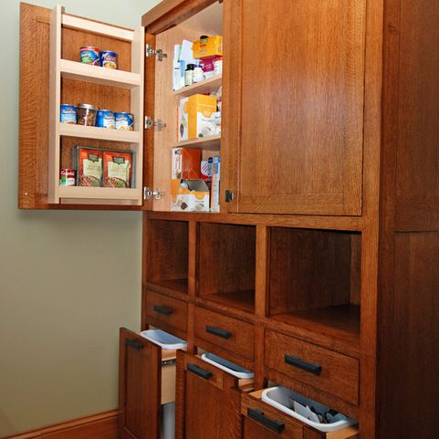 drawers for garbage and recycling sorting craftsman kitchen kitchen storage pantry storage on kitchen organization recycling id=87238