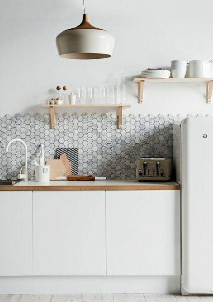 53 Variantes Pour Les Cuisines Blanches Decoration Cuisine Cuisine Blanche Credence Cuisine
