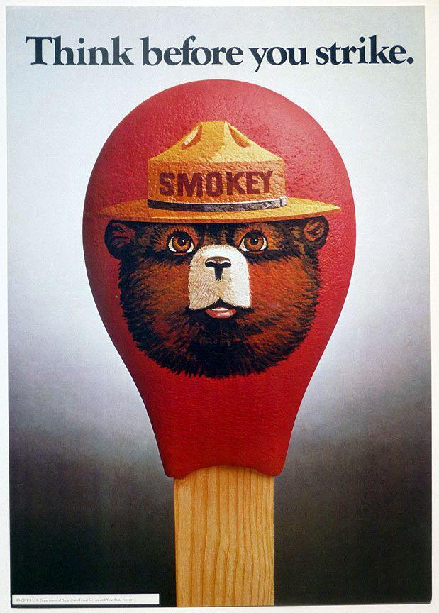 Fridge Fun Refrigerator Magnet SMOKEY THE BEAR Retro AD Poster Version H