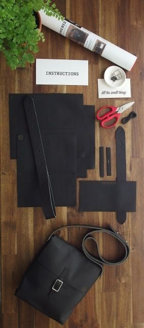 Leather Satchel DIY kit from Hammered Leatherworks. Everything is in the box!