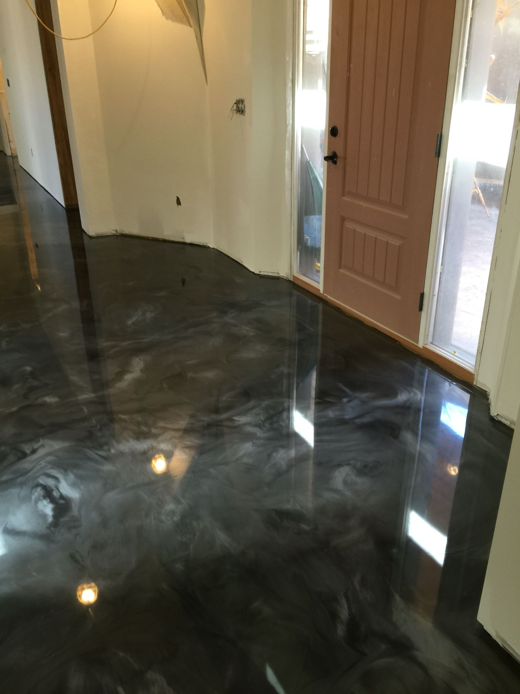 Metallic epoxy floor coating by sierra concrete arts - Interior concrete floor resurfacing ...