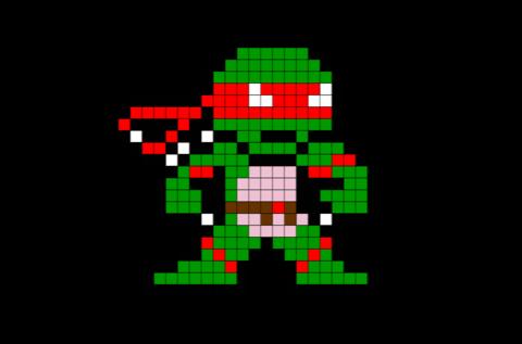 Raphael Ninja Turtles Pixel Art Pixel Art Art 8 Bit Art