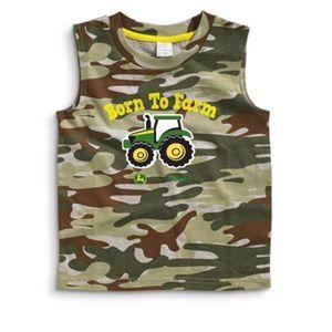 John Deere Toddlers Sleeveless Camo Shirts | WeGotGreen.com