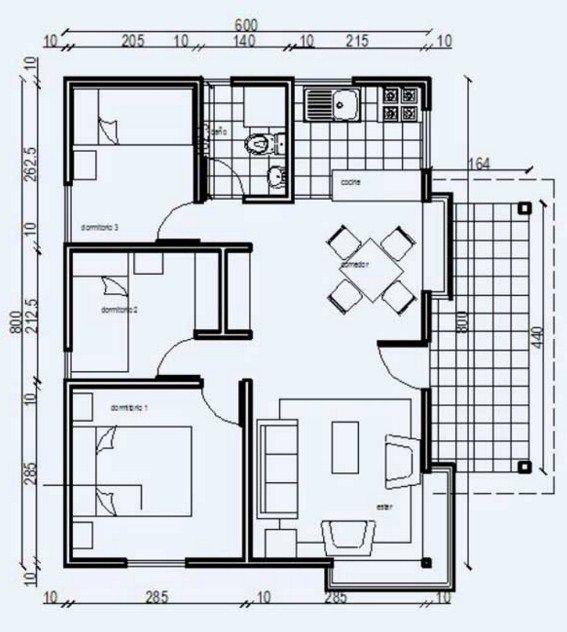 Planos de casas economicas pdf planos pinterest for Plantas de viviendas