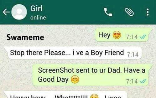 Screenshot send to your dad have a good day Funny whats