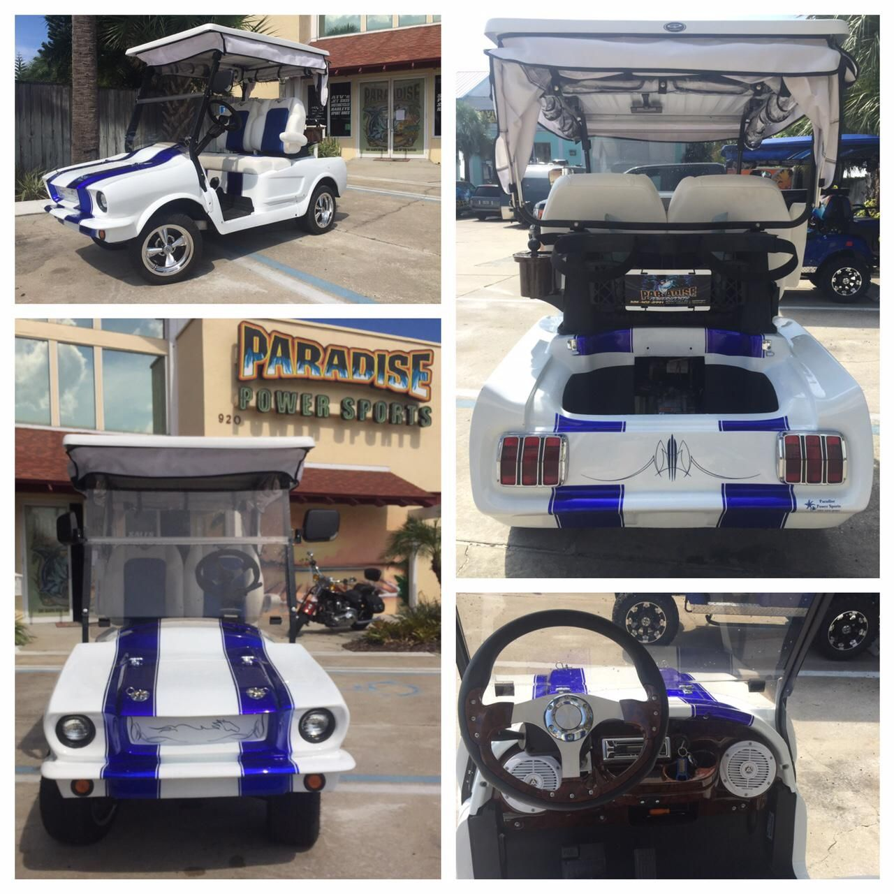Custom mustang golf cart golf carts water crafts
