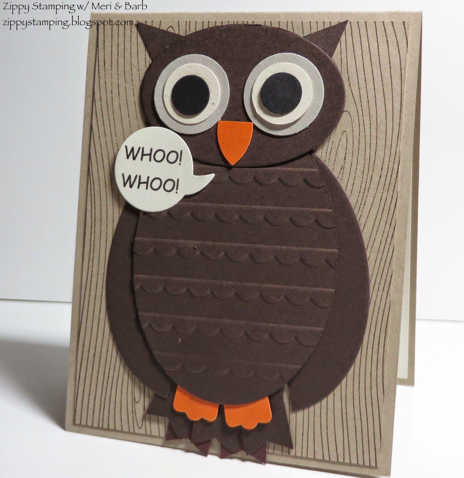 Zippy Stamping w/ Meri & Barb, Owl Punch Art