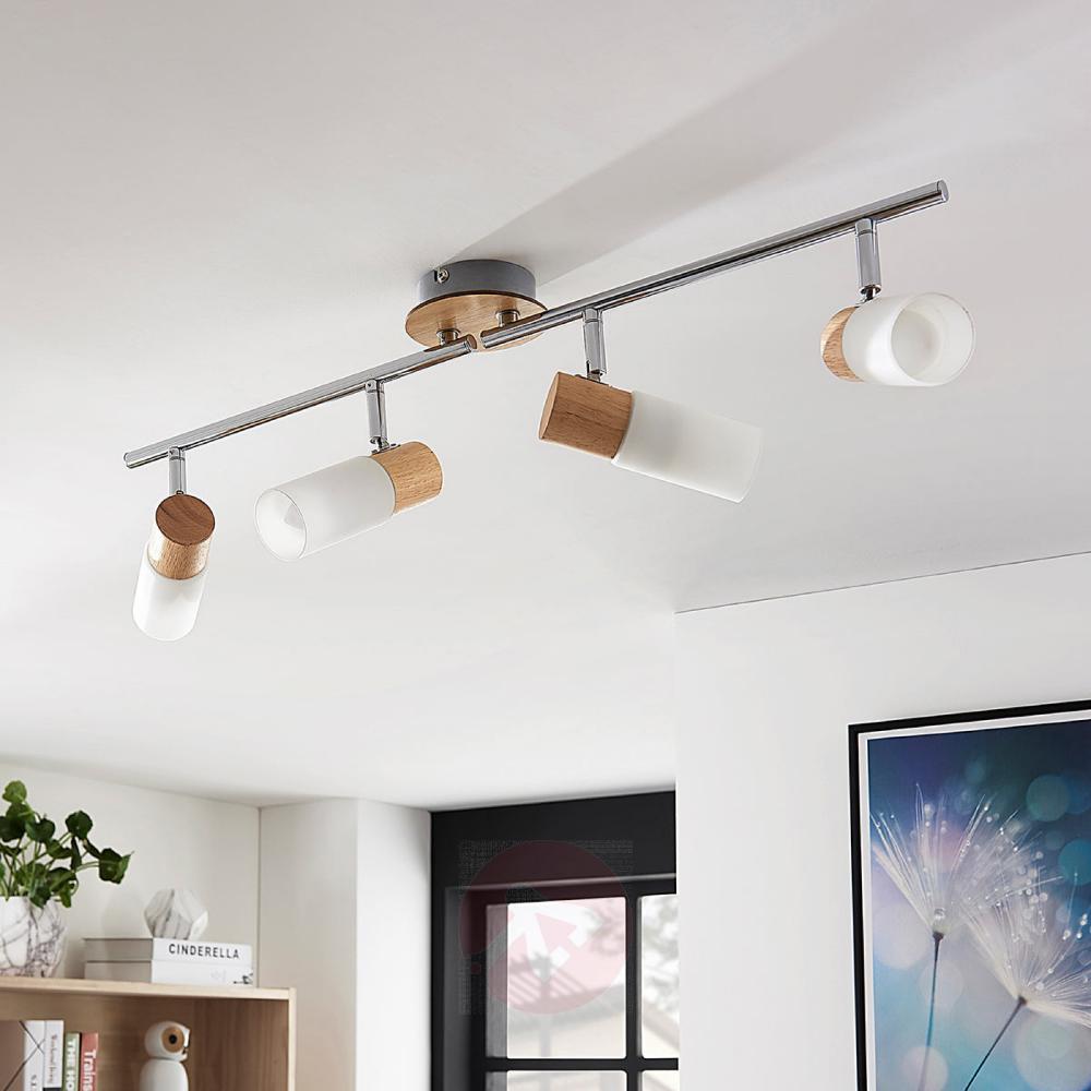 4 Punktowa Lampa Sufitowa Led Krzysztof Drewno Ceiling Lights Led Ceiling Spotlights Led Ceiling