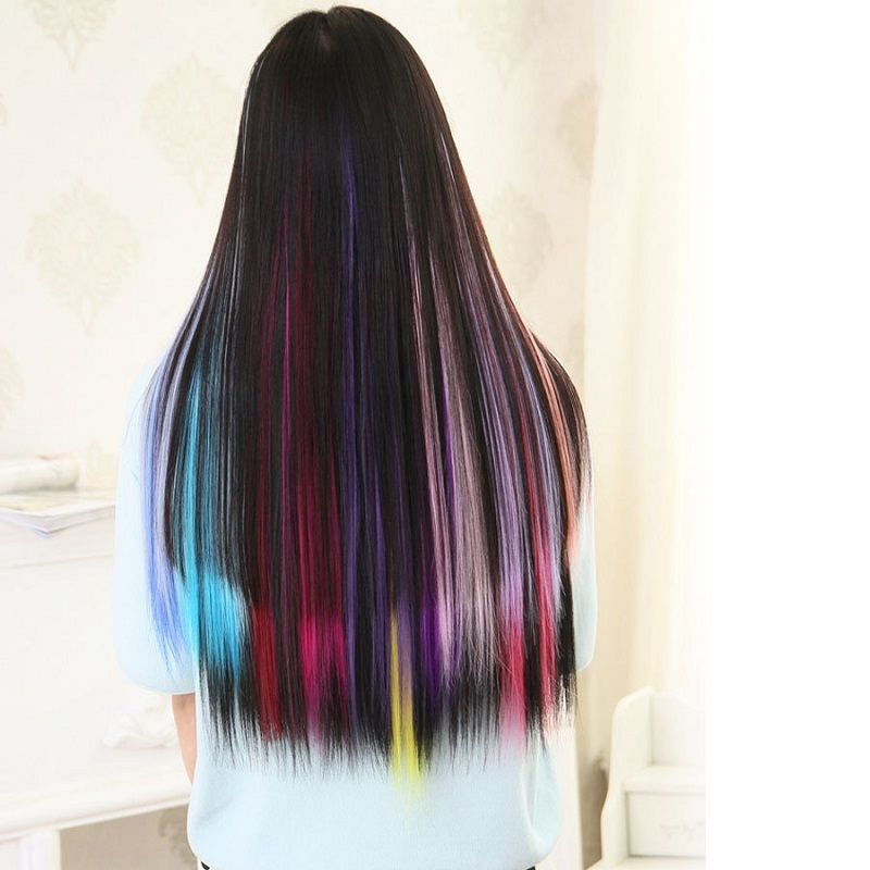2016 new 23inches simply straight clip in hair extensions fashion 2016 new 23inches simply straight clip in hair extensions fashion womens long synthetic wigs hair color pmusecretfo Gallery