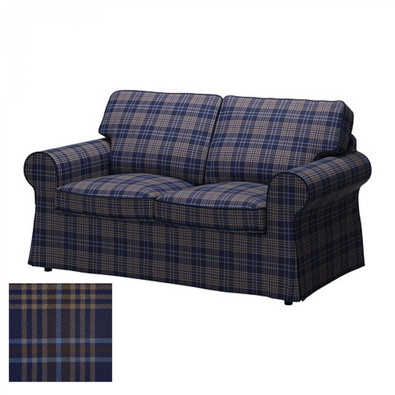 Rp 2 Seat Loveseat Sofa Cover Slipcover Rutna Multi Plaid Blue