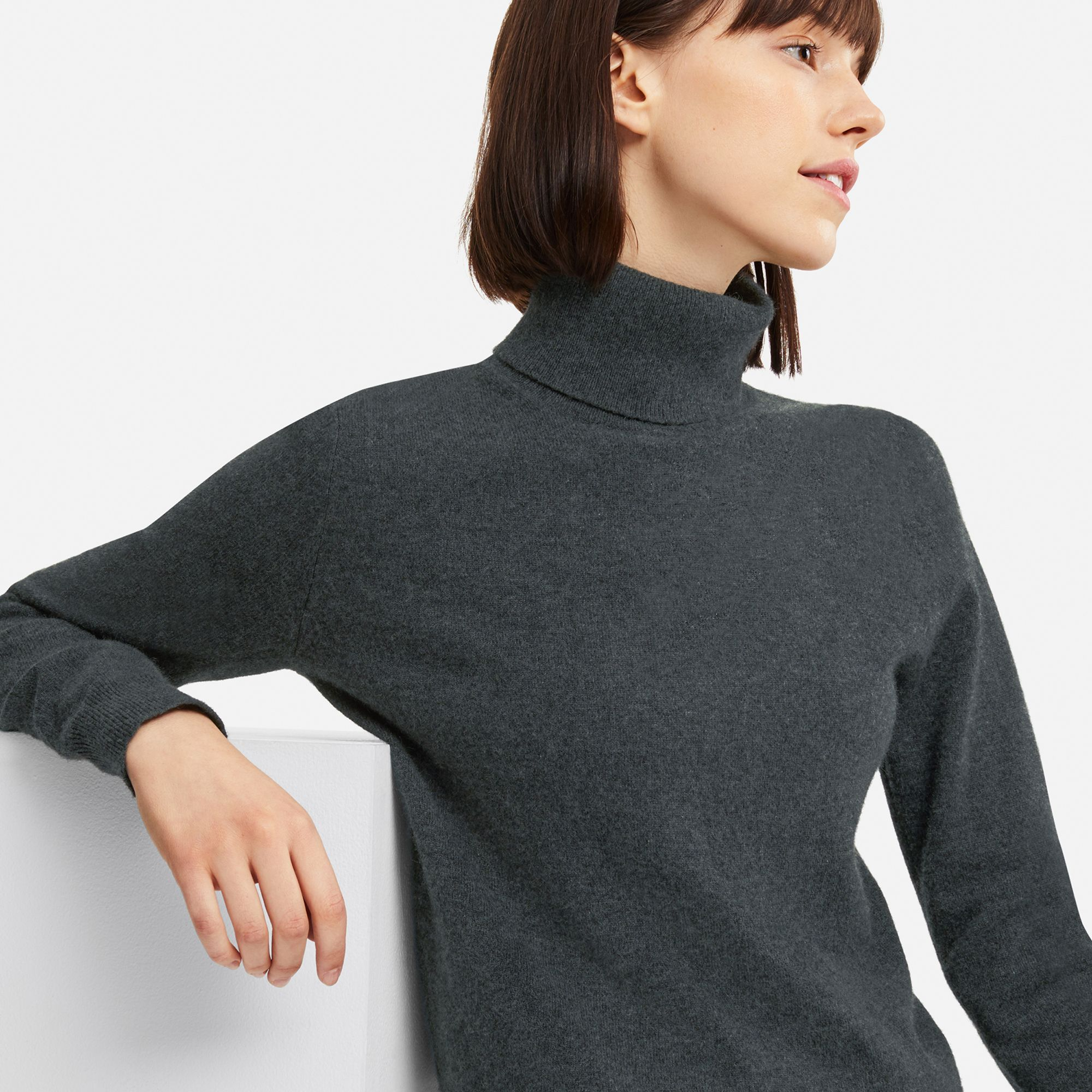 BlingGlri Womens high Collar Ribbed Sweater Pullover Cashmere Knit Sweatshirt