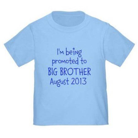 Cafepress Personalized Promotion To Brother Toddler T-Shirt, Toddler Boy's, Size: 2T (24 months), Blue