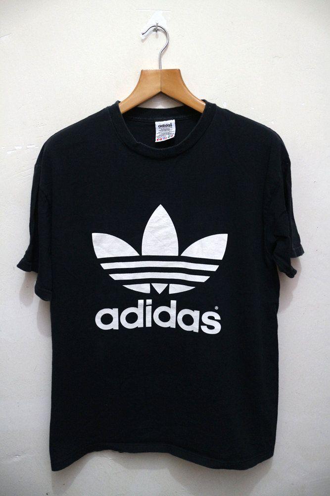 Tee Trefoil Hip Vintage Logo Hop Adidas Swag Streetwear Black T Big qz1OZ