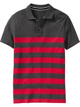 50ecb213 Men's Bold-Stripe Jersey Polos | Old Navy | Polo Shirt | Polo Shirt ...