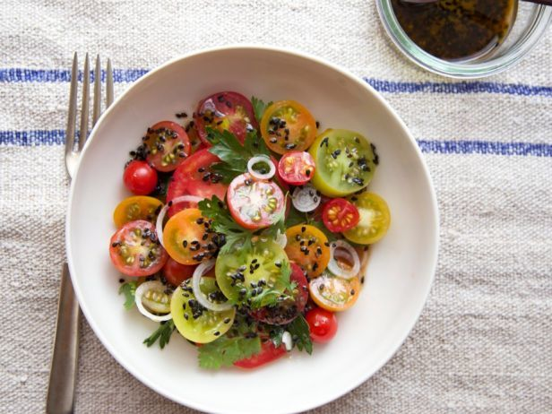 Salad of the Month: Tomato with Sesame Dressing