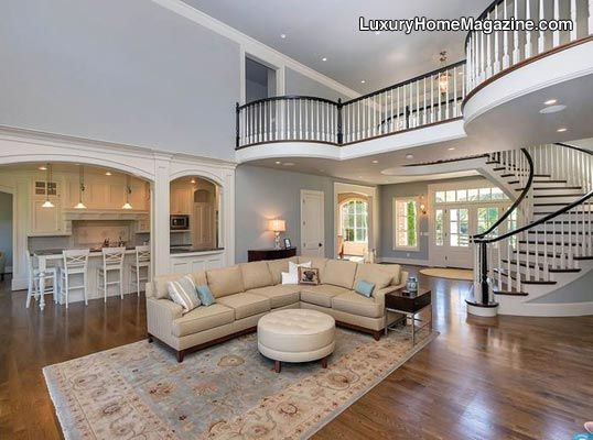 A Stunning Spiral Stair Case 23 Vaulted Ceilings Capped