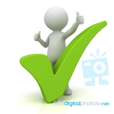 Figure With Green Check Mark Sculpture Lessons Powerpoint Animation Clip Art