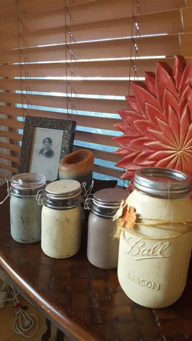 Cookie Jar Staten Island Alluring I Just Love My Chalky Painted Jars  Mason Jars  Pinterest Design Inspiration