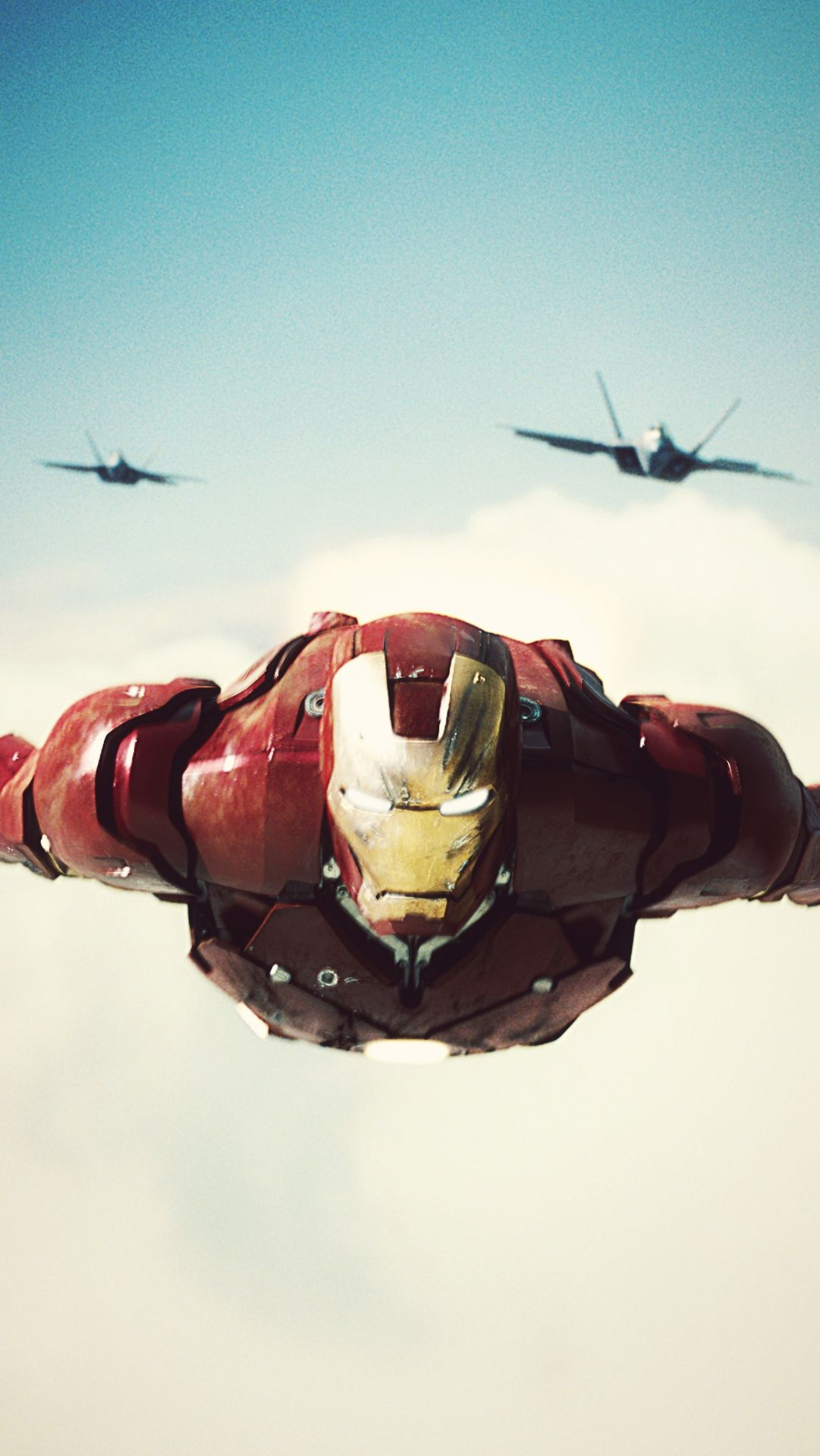 Iron Man With F 22 Raptor Iphone Wallpaper Marvel Marvel Iron
