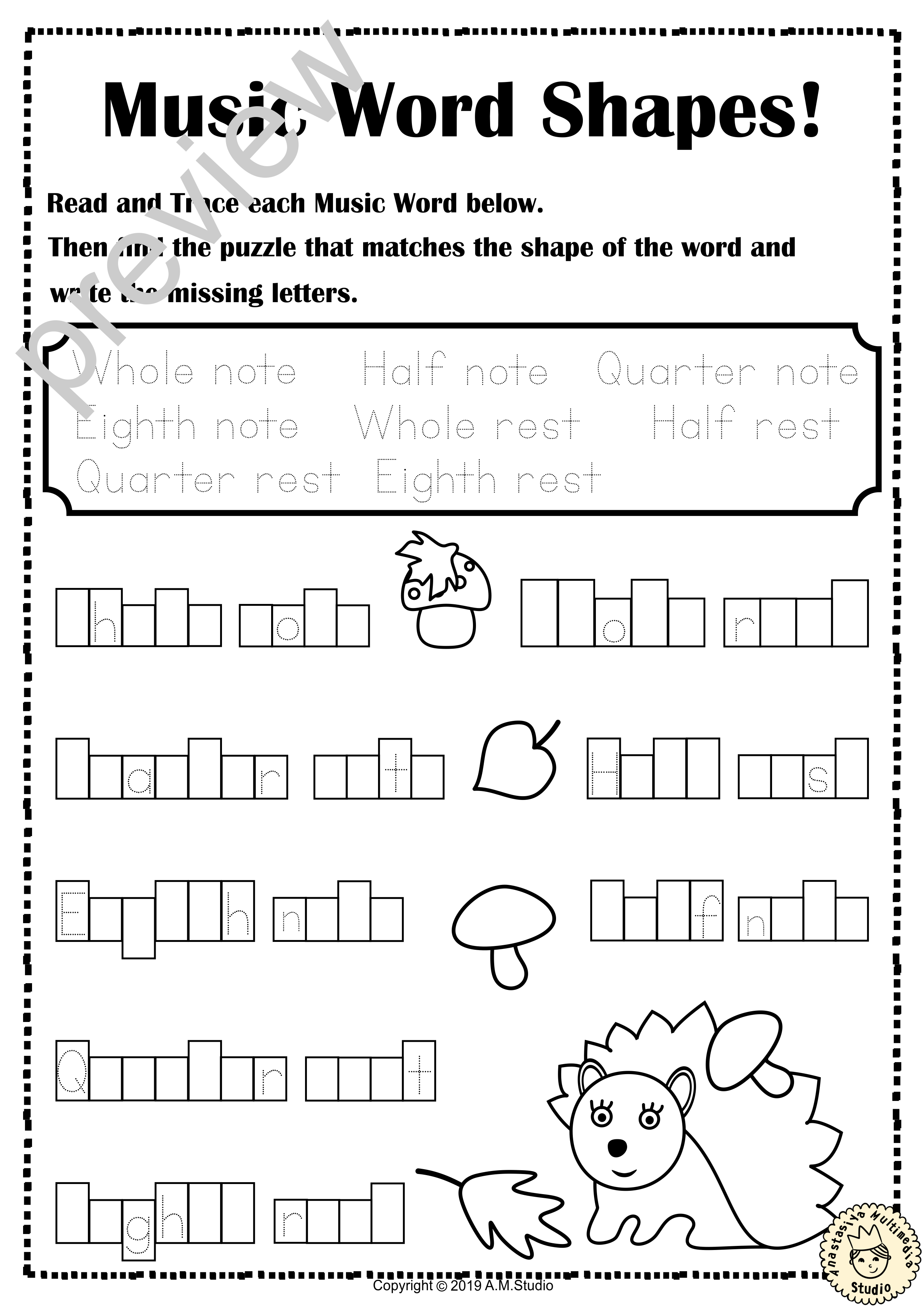These Simple Fall Autumn Themed Worksheets Focus On Note