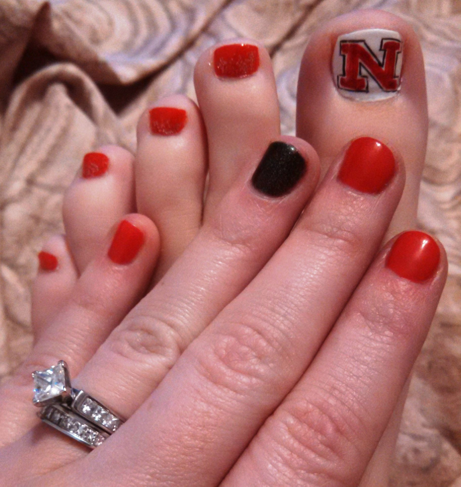 Ready for game day! #GBR #Huskers #Nails