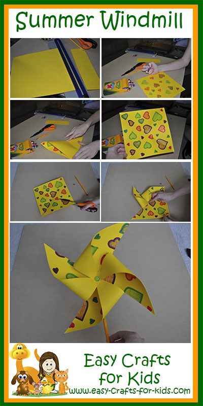 How To Make Paper Windmill Summer Crafts For Kids Preschool Crafts Summer Camp Crafts