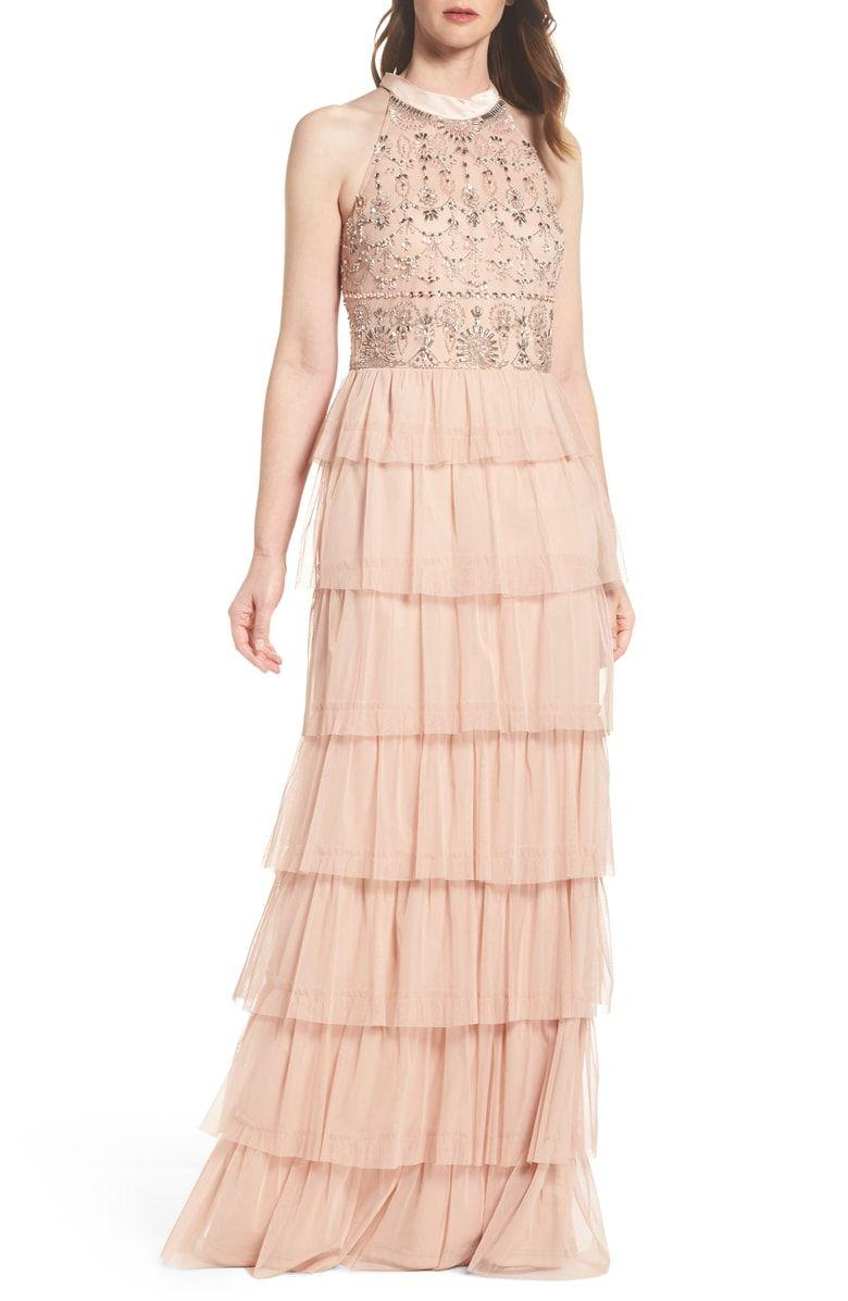 c6331d0c78f7 Embellished Tiered Maxi Dress