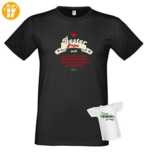 T-Shirt - Bester Papa - Repariert Alles - Ist ein Held - lustiges Sprüche Shirt für Väter mit Humor - Geschenk Set zum Vatertag (*Partner-Link)