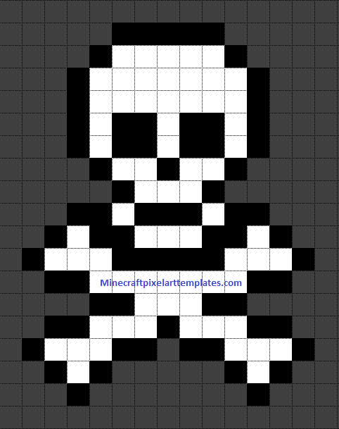 Minecraft Pixel Art Templates Skull And Crossbones Minecraft Pixel Art Grid Maker Anime Ideas Easy Templates Hard P Steckperlen Pixelart Vorlagen Bugelperlen