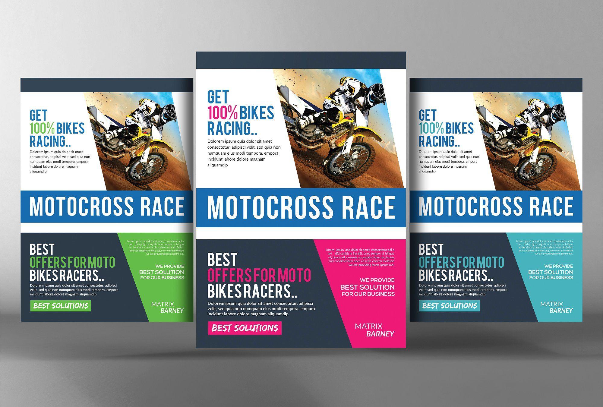 Related Image Flyer Flyer Template Motocross Racing
