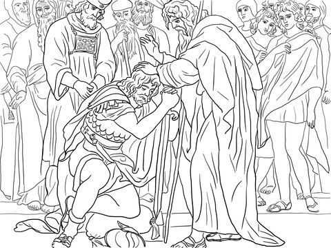 Joshua Is Named The Successor Of Moses Coloring Page Coloring