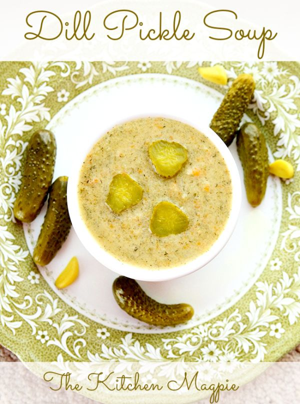 How To Make Dill Pickle Soup from @kitchenmagpie