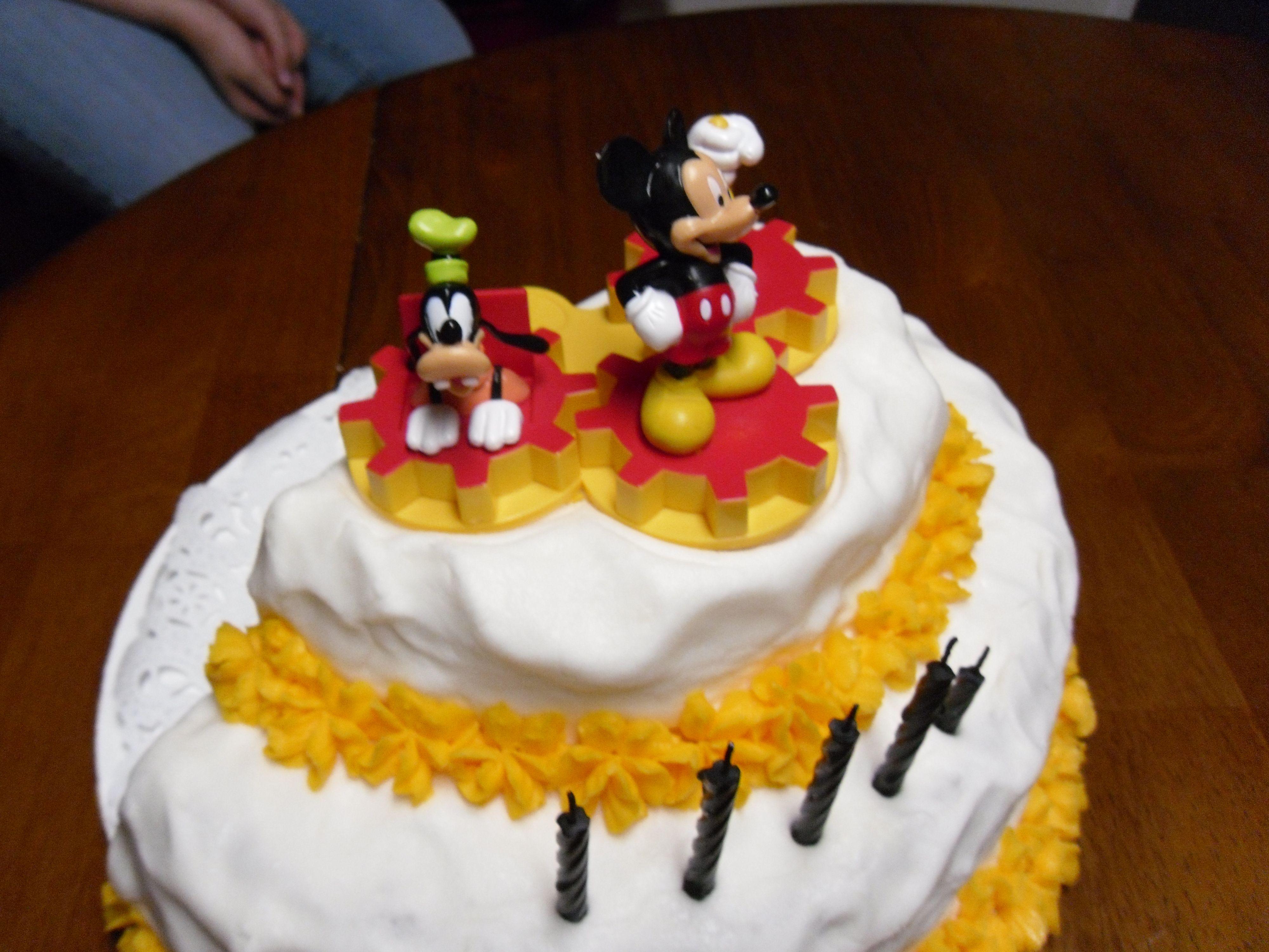 Mickey Mouse Half Birthday Half Birthday Cakes Half Birthday