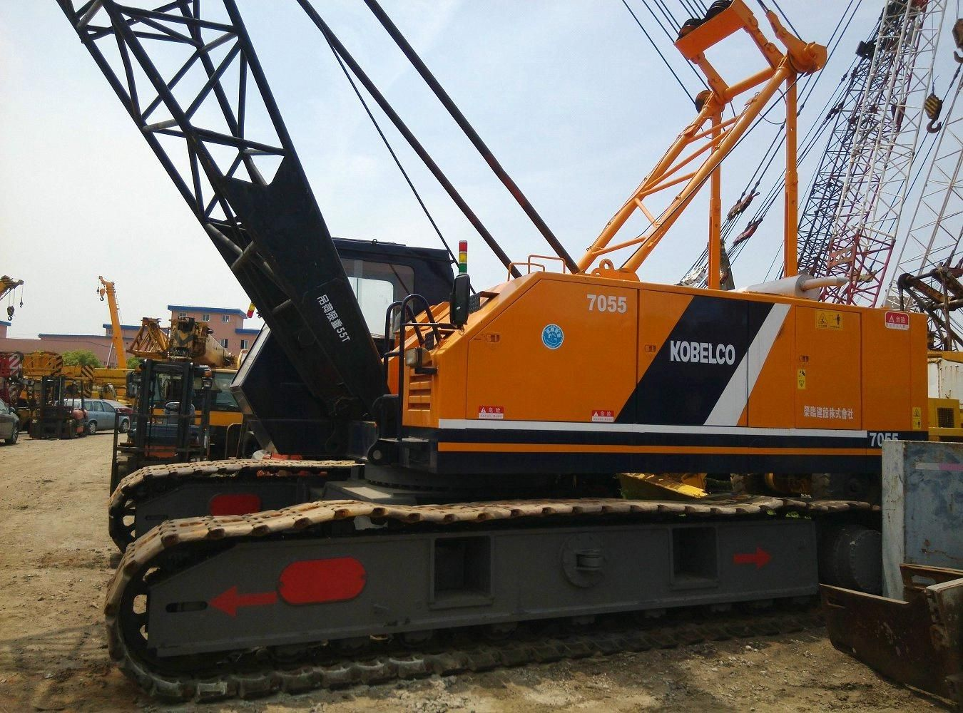 used kobelco 50t crawler crane model 7055 original from