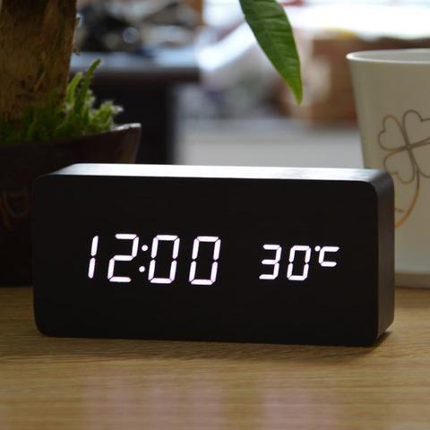 Wooden Alarm Clock Wildcitizen Com Alarm Clock Led Alarm Clock