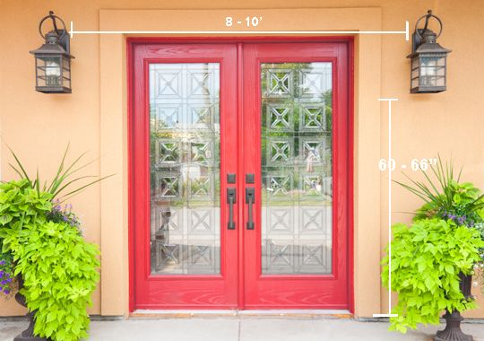 Front Doors · Choose The Size Wall Lights That Fit The Proportions Of Your  Entryway.