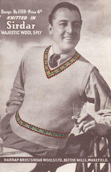 fair isle knitting pattern   Men's Sweater vests   Pinterest ...