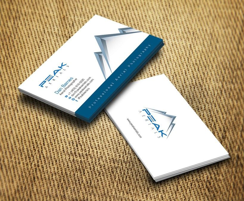 Create a business card for peak aerials professional aerial create a business card for peak aerials professional aerial photography by qhazart reheart Choice Image