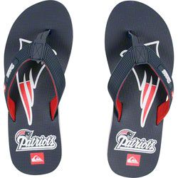 NEW ARRIVAL: New England Patriots Blue & Gray Quicksilver Flip Flop Sandals  http://www.fansedge.com/New-England-Patriots-Blue-Gray-Quicksilver-Flip-Flop-Sandals-_1249397014_PD.html?social=pinterest_pfid26-17724