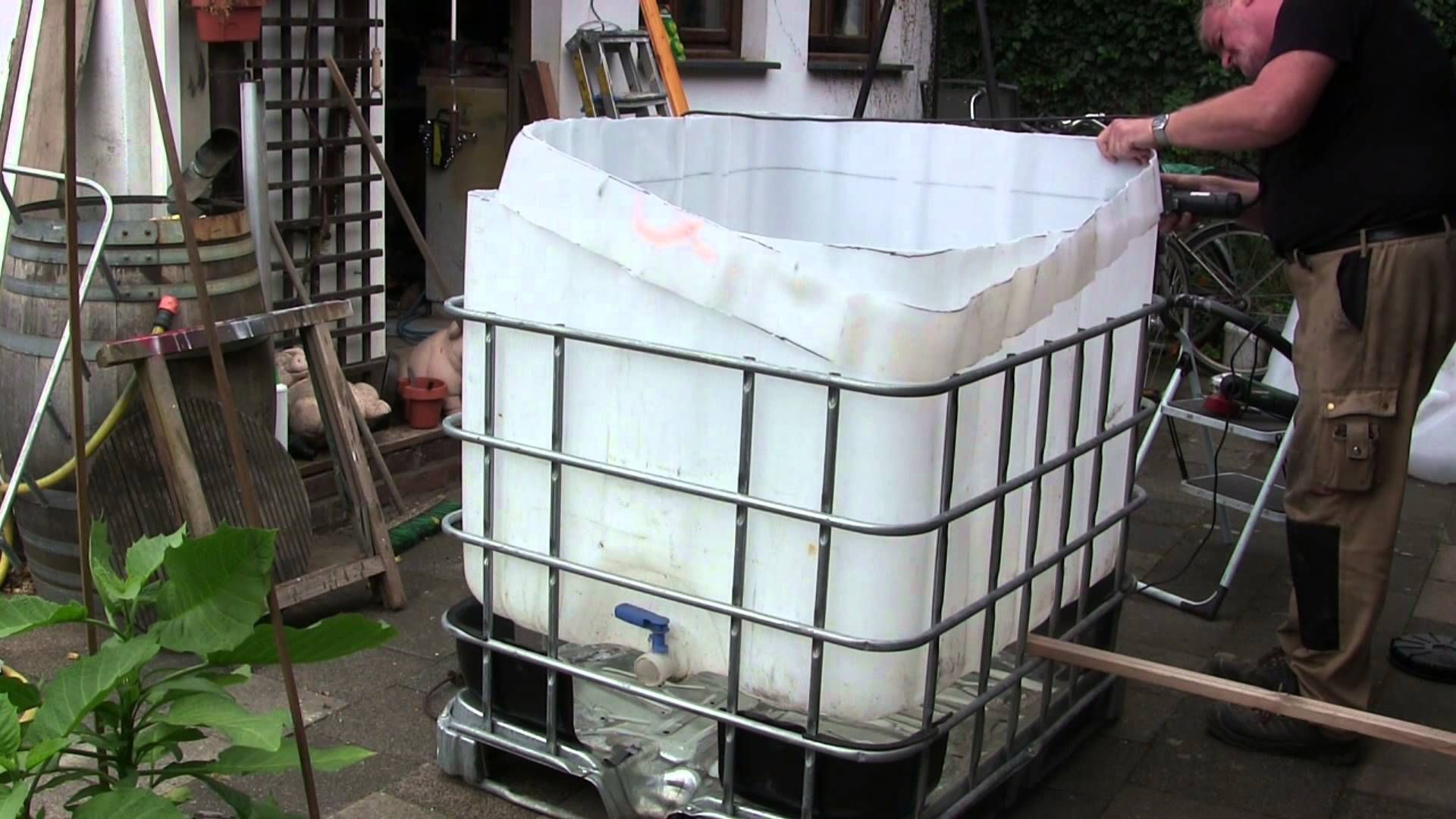Pool Selber Bauen Video Video Pool Aus Ibc Tank Container Selber Bauen So Einfach