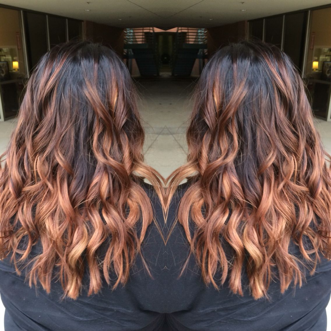 Love a warm ombre!!   #ombre #balayage #longhair #haircolor