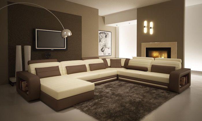 Quelle Sofa couleur va avec le marron 50 idées en photos