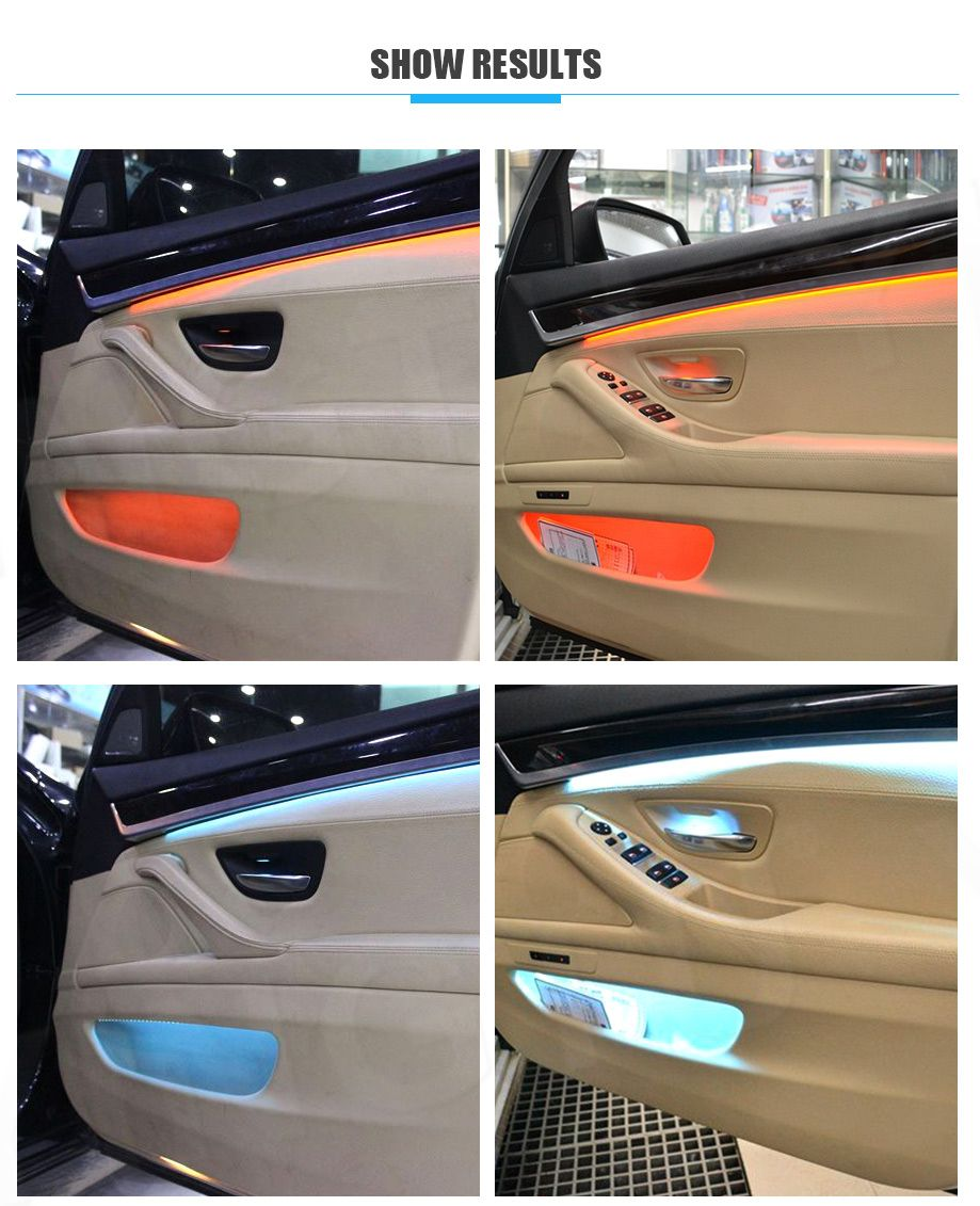 Multi Colors Led Ambient Lighting Of Bmw F10 F11 White And