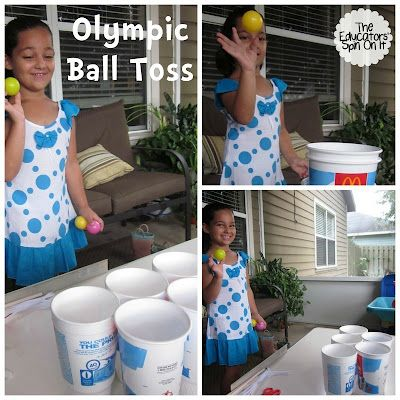 Olympic Ball Toss- repinned by @PediaStaff – Please Visit ht.ly/63sNtfor all our pediatric therapy pins