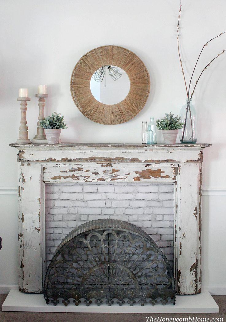 How To Build A Custom Fireplace Surround For Any Mantel. DIY Fireplace,  Rustic Farmhouse