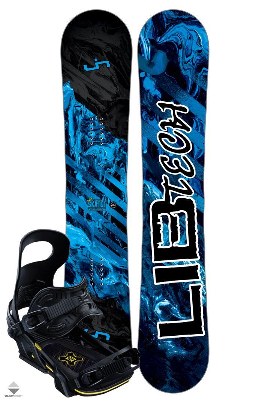 Komplet Snowboardowy Deska Wiazania Lib Tech Skate Banana 156 Blue Lib Tech Skate Tech