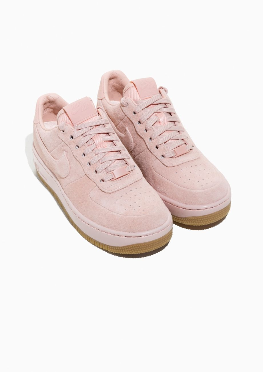 Other Stories image 2 of Nike Air Force 1 Upstep Suede in Pink
